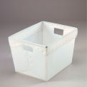Corrugated Plastic Postal Tote Without Lid 18-1/2x13-1/4x12 White