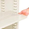 Shelf For Sliding Steel Book Case 36x12 Putty