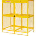 "Global™ Cylinder Storage Cabinet - Vertical Double Door 20 Cylinders - 64""W x 40""D x 71""H"