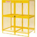 "Jamco Cylinder Storage Cabinet CV102 - Vertical Double Door 20 Cylinders - 64""W x 40""D x 71""H"