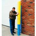 "Eagle Ribbed Bollard Post Sleeve 8"" Yellow, 1738-YL"