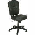 Pneumatic Task Leather Office Chair Black