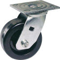"Faultless Swivel Plate Caster 6"" Polyolefin Wheel With Brake"