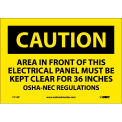 "Safety Signs - Caution Area - Vinyl 7""H X 10""W"