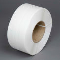 "Polypropylene Strapping 3/8"" x .021"" x 12,900' White 8"" x 8"" Core"
