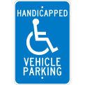 "Aluminum Sign - Handicapped Vehicle Parking - .08"" Thick, TM10J"