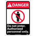 "Graphic Signs - Danger Do Not Enter - Vinyl 10""W X 14""H"