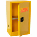 Compact Flammable Storage Cabinet 16 Gallon Capacity 1 Shelf