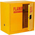 """Global™ Bench High Flammable Cabinet - 22 Gallon Manual Close Double Door - 35""""W x 22""""D x 35""""H"""