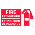 Fire Extinguisher Sign- Bilingual - Plastic
