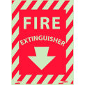 Fire Extinguisher Sign - Glow-In-The-Dark - Vinyl