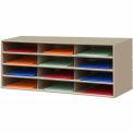 "12 Compartment Steel Literature Sorter - 14""H Tan"