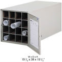 Safco Stackable Steel Blueprint Storage Roll File - 16 Tube Model