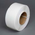"""Polypropylene Strapping 1/2"""" x .022"""" x 9,000' White 8"""" x 8"""" Core"""