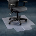 "36""W x 48""L Chair Mat w/ 20"" x 10"" Lip for Carpeted Floor"