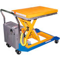 Battery Powered Mobile Scissor Lift Table 48 X 24 1000 Lb. Capacity