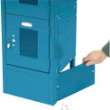 """End Base For 12""""D X 6""""H Blue Locker Pair (Left And Right)"""