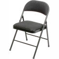 Padded Fabric Folding Chair - Black