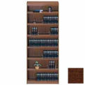 "Unassembled 84""H Contemporary Square Edge Bookcase Walnut"