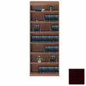"Unassembled 84""H Contemporary Square Edge Bookcase Mahogany"