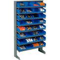 8 Shelf Floor Rack With 32 Bins 8 Inch Wide 33x12x61