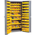 Bin Cabinet Unassembled With 36 Inside 96 Door Bins 38inch Wide