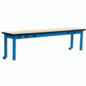 Riser With Power Center Plastic Top 96inch Long Blue
