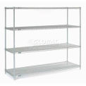 "Nexel Stainless Steel Wire Shelving 72""W X 24""D X 63""H"
