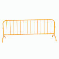 Crowd Control Barrier Powder Coat Yellow 102x40x1 1/4 Dia