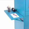 Side Shelf Kit for Global Industrial™ Computer Cabinet, Blue, Set of 2