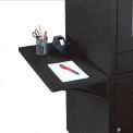 Side Shelf Kit for Global Industrial™ Computer Cabinet, Black, Set of 2