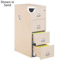 "Letter Size Fireproof File Cabinet 18""W x 31-1/2""D x 53""H - Light Gray"
