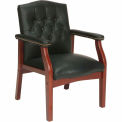 Mid Back Leather Office Chair Black