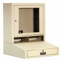 LCD Counter Top Security Computer Cabinet - Putty