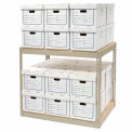 """Record Storage Rack With Boxes 42""""W x 30""""D x 36""""H"""