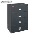 Lateral File Letter-Legal Size Fireproof 4 Drawers Light Gray