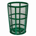 Outdoor Metal Trash Container Green