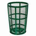 Outdoor Metal Trash Container Green, 48 Gallon