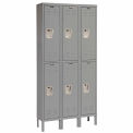 Hallowell U3226-2A-HG Premium Locker Double Tier 12x12x30 6 Door Assembled - Dark Gray