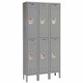 Hallowell U3226-2A-HG Premium Locker Double Tier 12x12x30 6 Door Assembled Gray