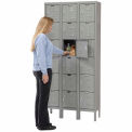 Hallowell Premium Locker Six Tier 12x18x12 18 Door Assembled Gray