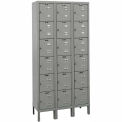 Hallowell Premium Locker Six Tier 12x15x12 18 Door Ready To Assemble Gray