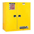Flammable Cabinet and Drum Storage with Manual Doors