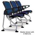 Modular Reception Seating Add-On Seat Navy