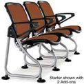 Modular Reception Seating Add-On Seat Brown