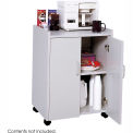 Wood Mobile Refreshment Center Gray
