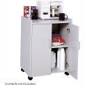 Safco Wood Mobile Refreshment Center Cart, Gray - 8953GR