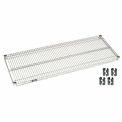 """Nexel S1854Z Poly-Z-Brite Wire Shelf 54""""W x 18""""D with Clips"""