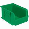 Quantum Plastic Stacking Bin QUS221 6 x 9-1/4 x 5 Green - Pkg Qty 12