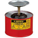 Justrite Safety Plunger Can - 2 Quart Steel